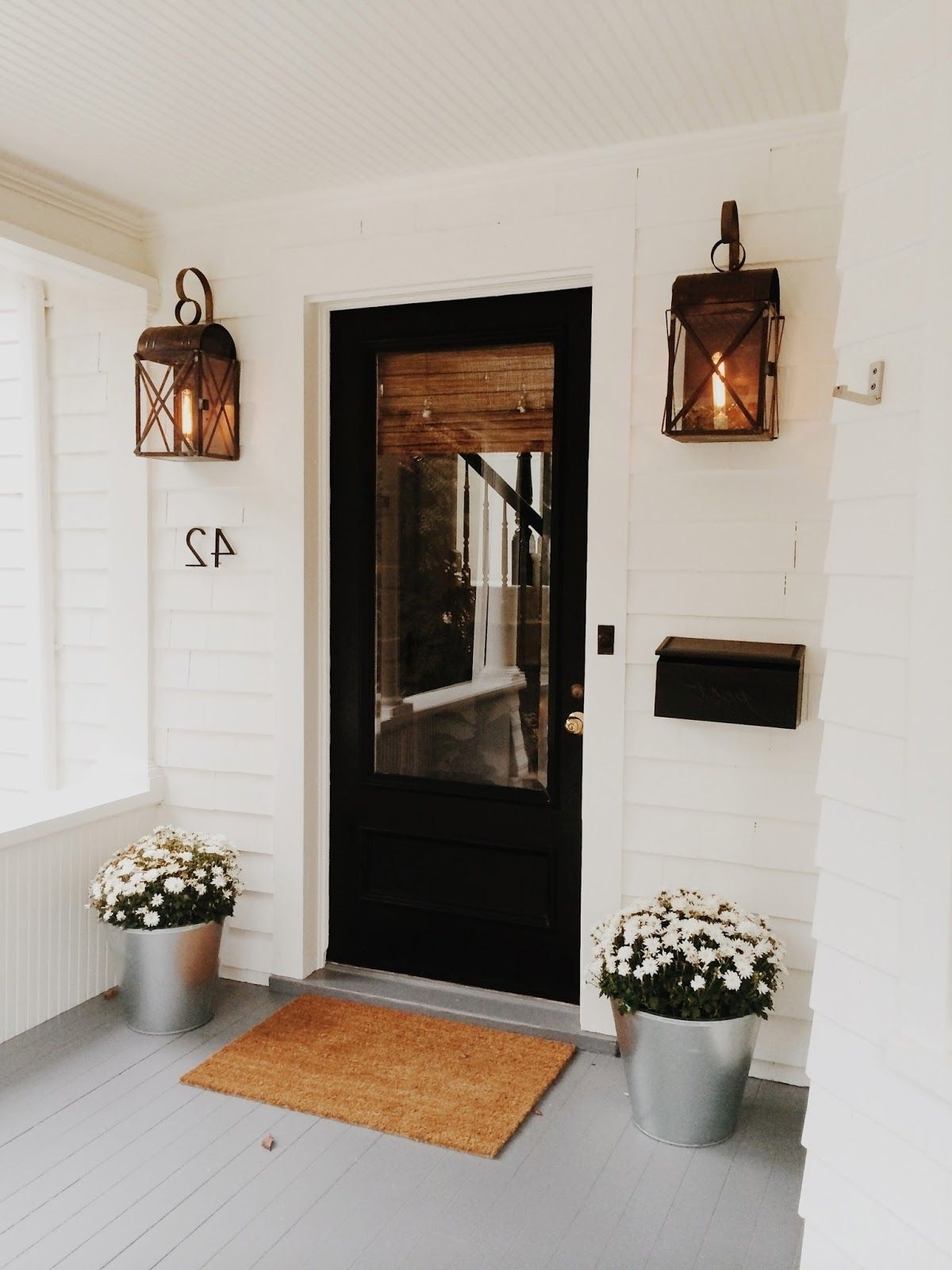 Popular Outdoor Door Lanterns With Regard To Modern Cottage Style In Connecticut (View 12 of 20)