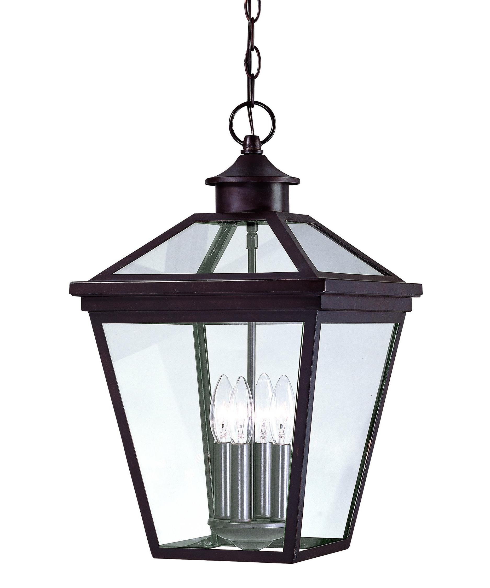 Popular Outdoor Glass Lanterns With Regard To Savoy House 5 145 13 Ellijay 12 Inch Wide 4 Light Outdoor Hanging (View 17 of 20)