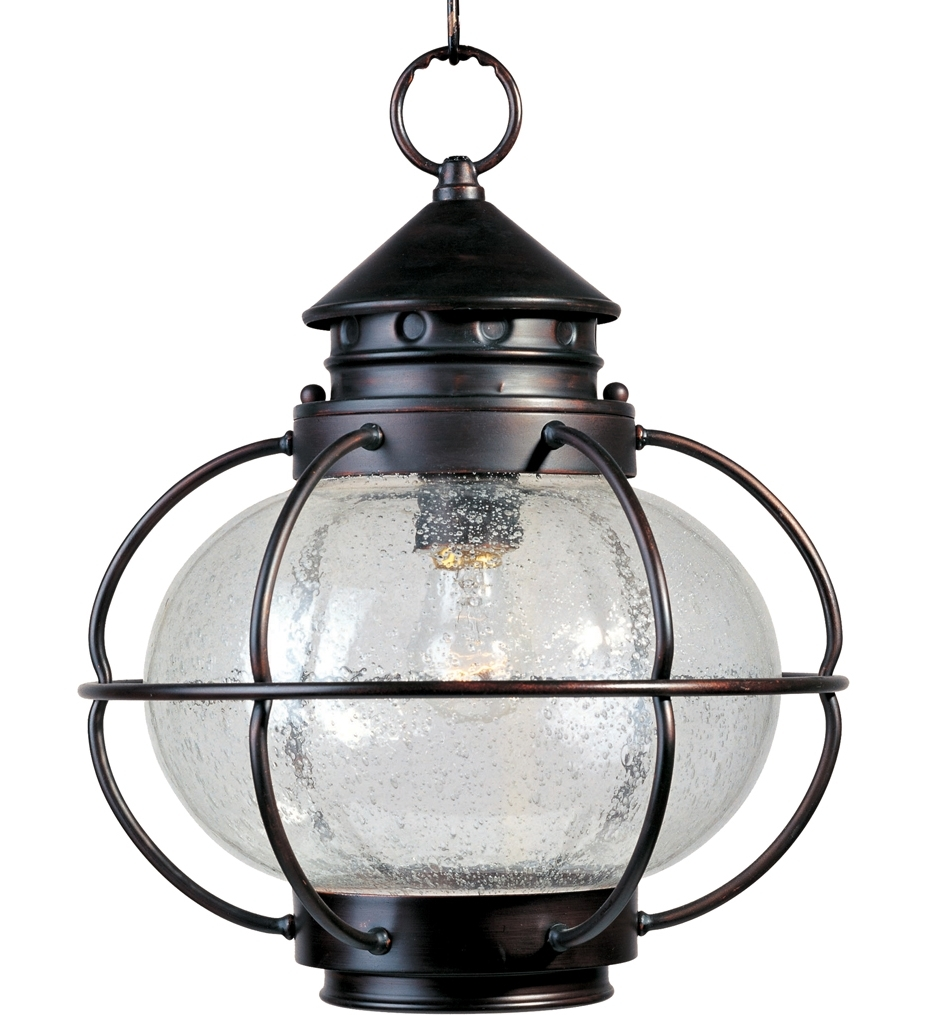 Popular Outdoor Hanging Oil Lanterns For Lamps: Maxim Lighting – 30506Cdoi – Portsmouth Oil Rubbed Bronze (Gallery 10 of 20)