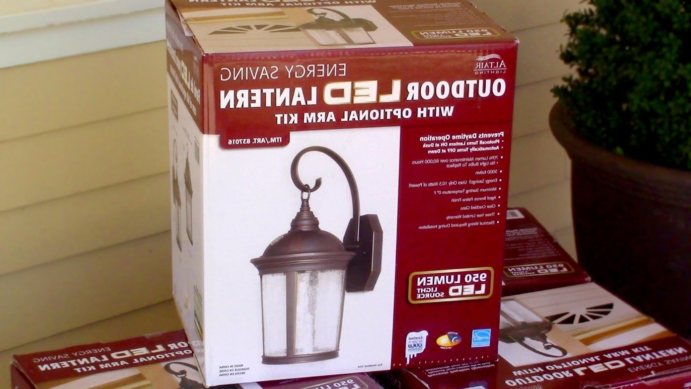 Popular Outdoor Lanterns With Led Lights Pertaining To How To Install Outdoor Light Fixture – Costco's Outdoor Led Porch (View 4 of 20)
