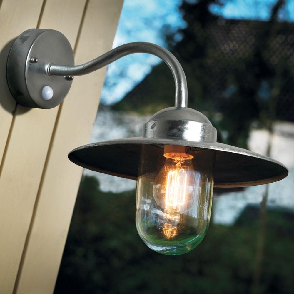 Popular Outdoor Pir Lanterns In Luxembourg Outdoor Lantern (Nordlux, 22661031, Galvanized, Pir (Gallery 1 of 20)