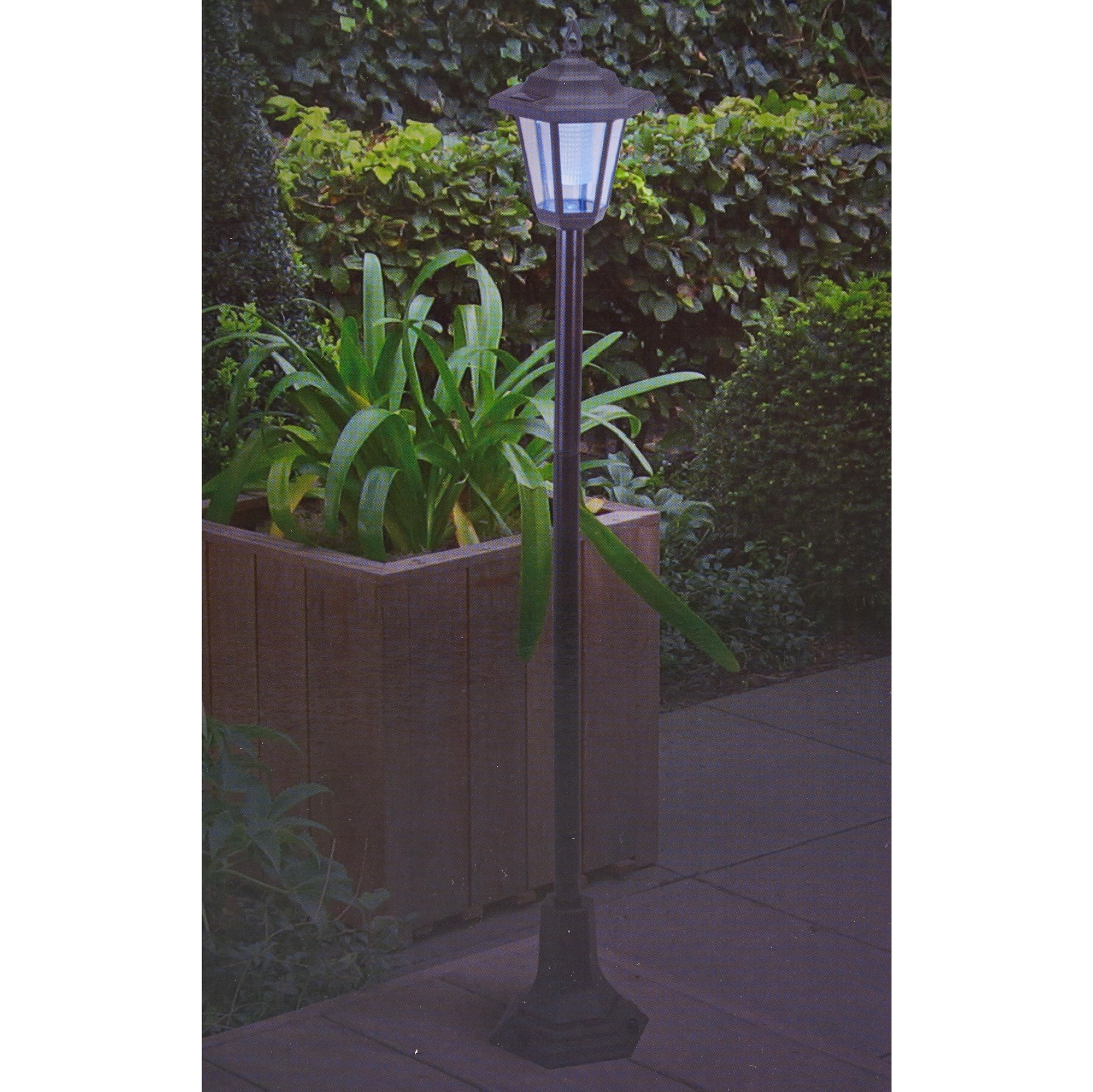 Popular Solar Powered Garden Lights Lantern Lamp Black Led Pathway Driveway With Outdoor Driveway Lanterns (View 17 of 20)