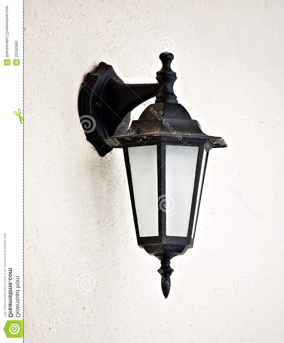 Popular Vintage Outdoor Lanterns In Old Vintage Outdoor Lantern Wall Hanging Lamp Stock Photo, Lamps (Gallery 3 of 20)