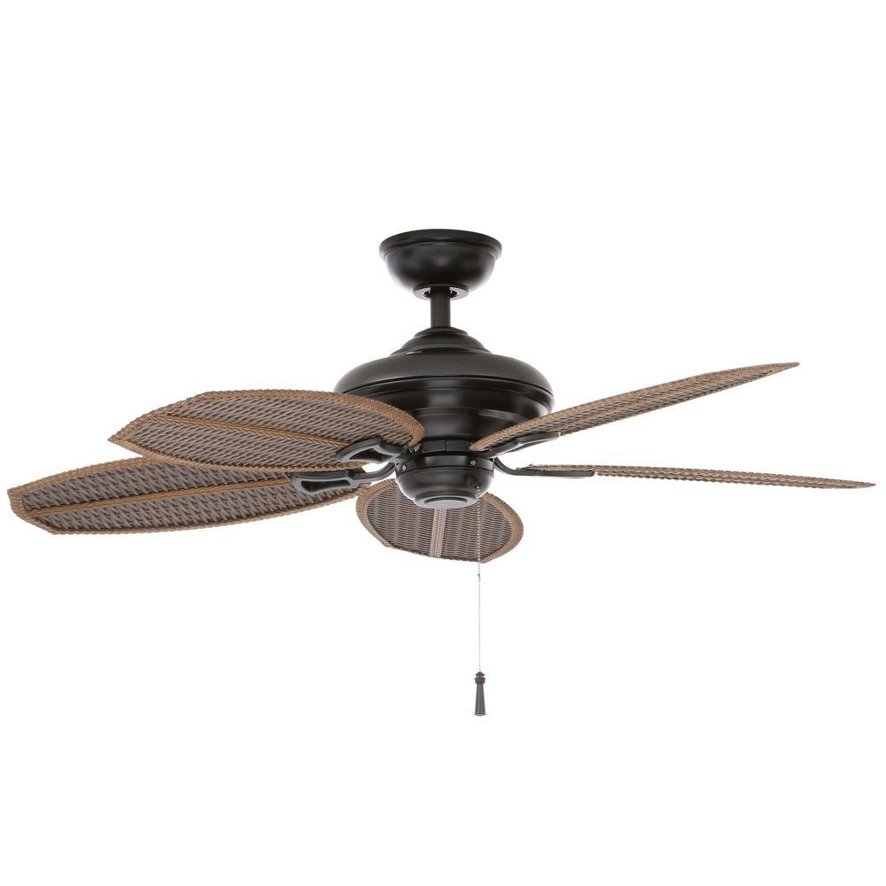 Popular Wicker Outdoor Ceiling Fans With Regard To Hampton Bay Palm Beach Ii 48 In (View 8 of 20)