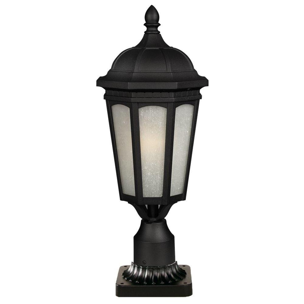 Post Lighting – Outdoor Lighting – The Home Depot Regarding Recent Outdoor Pole Lanterns (View 6 of 20)