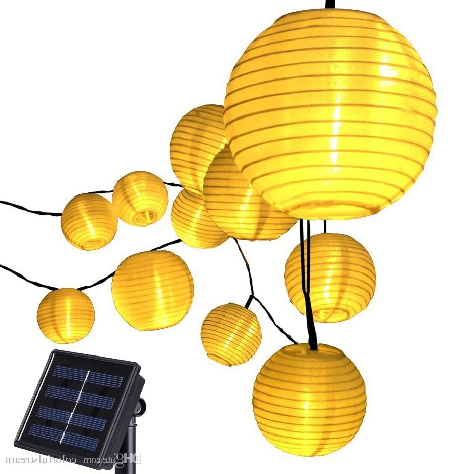 Preferred 20 Led Lantern Solar Powered String Indoor Or Outdoor Lights Within Yellow Outdoor Lanterns (Gallery 6 of 20)