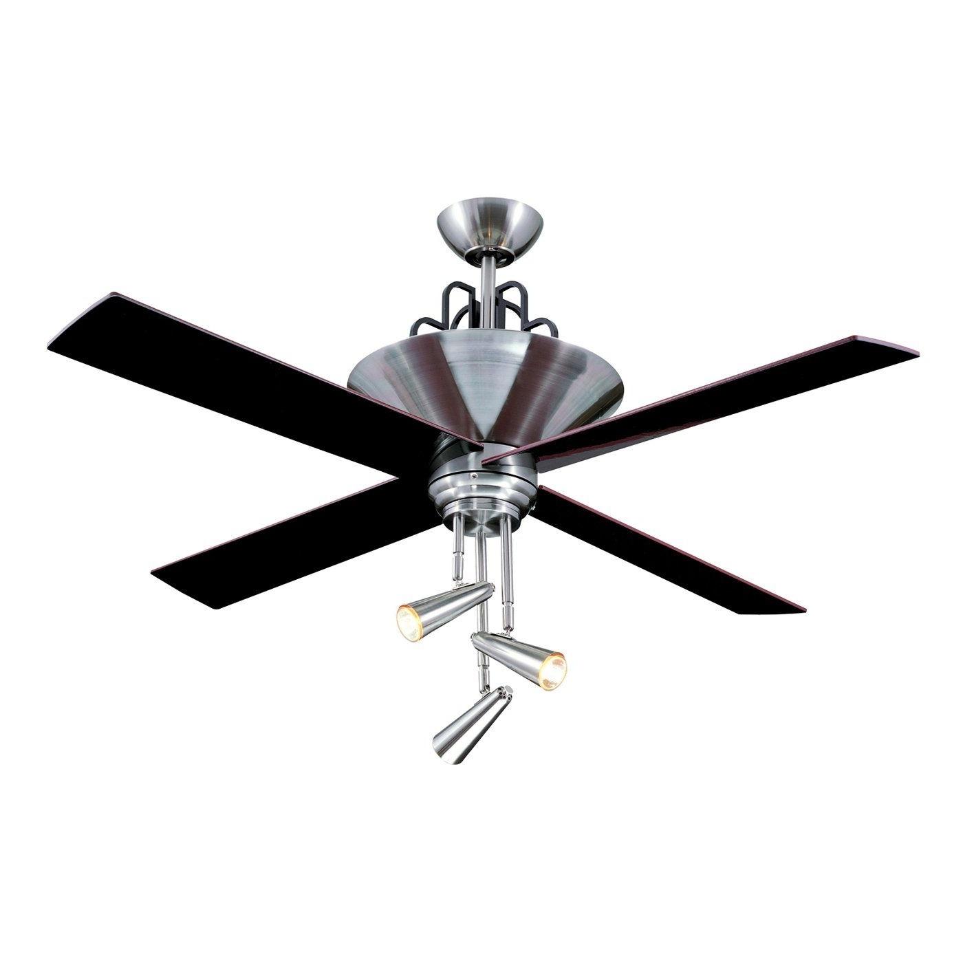 Preferred Ellington Fans E Gal52Bc4Gr 3 Light Galileo Ceiling Fan, Black Regarding Ellington Outdoor Ceiling Fans (View 17 of 20)