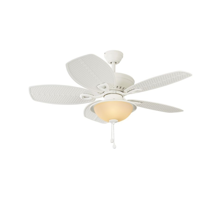 Preferred Harbor Breeze Cedar Shoals 44 In White Downrod Or Close Mount Indoor With Harbor Breeze Outdoor Ceiling Fans With Lights (View 13 of 20)