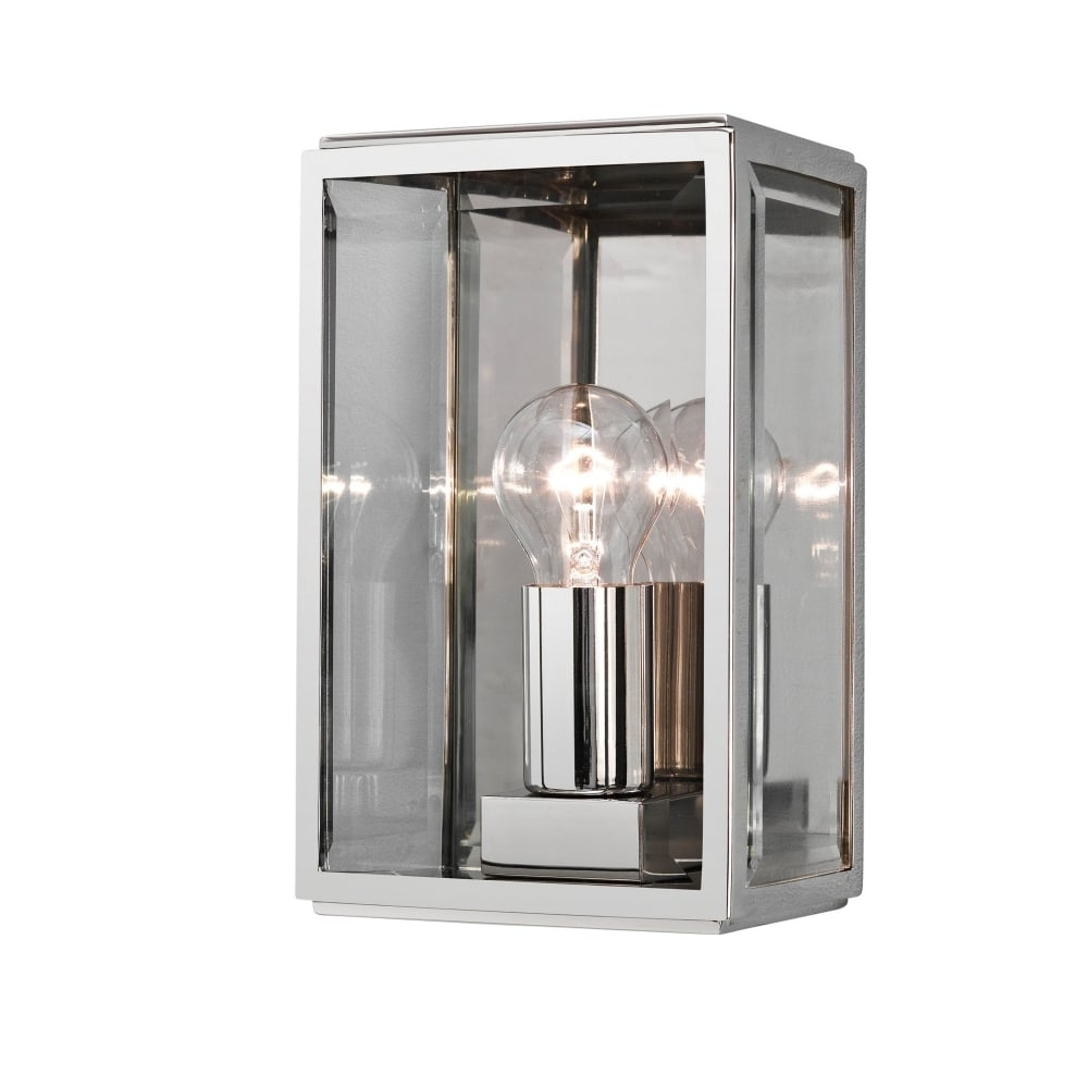 Preferred Nickel Outdoor Lanterns With Contemporary Polished Nickel Outdoor Box Wall Lantern (View 15 of 20)
