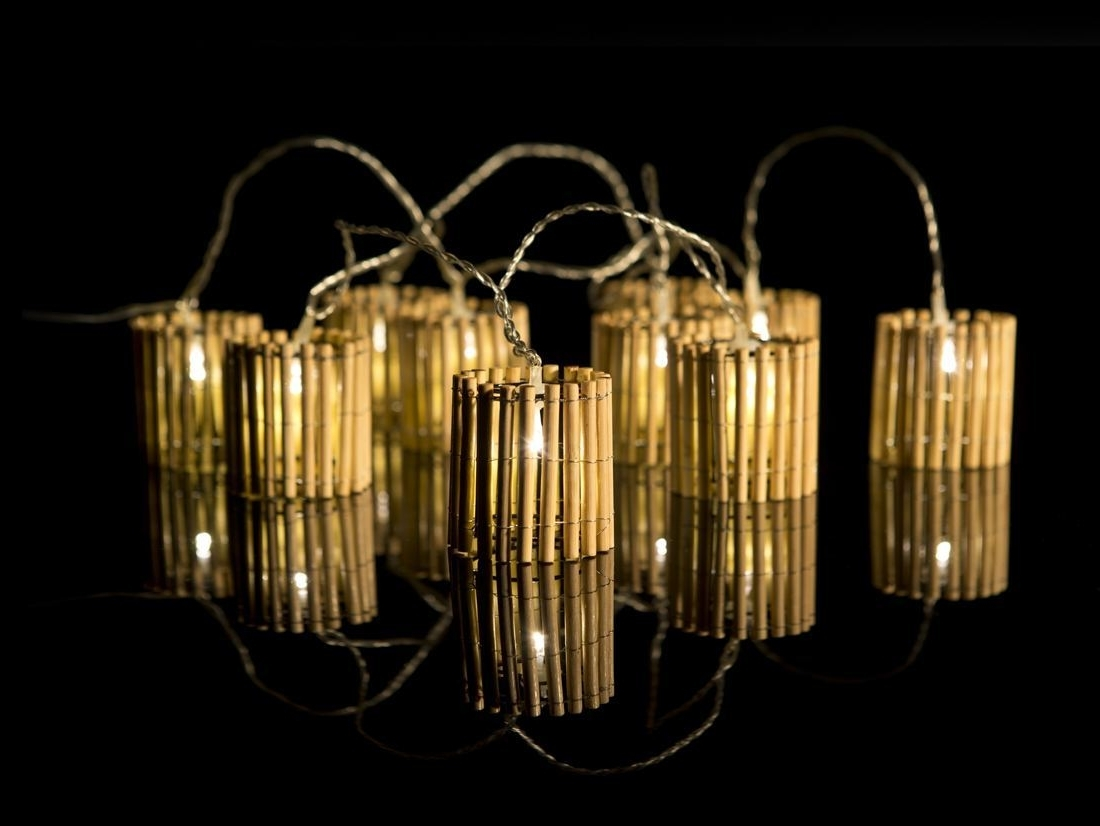 Preferred Outdoor Bamboo Lanterns Pertaining To Bamboo Lantern Fairy Lights – The Fairy Light Shop (View 15 of 20)
