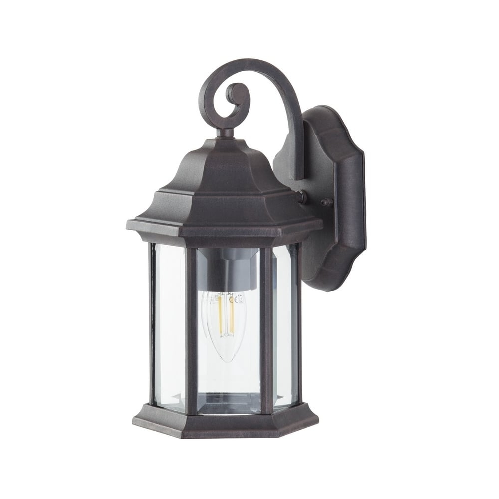 Preferred Outdoor Bronze Lanterns Intended For Thlc Outdoor Bronze Finish Ip44 Outdoor Exterior Wall Lantern Light (View 16 of 20)