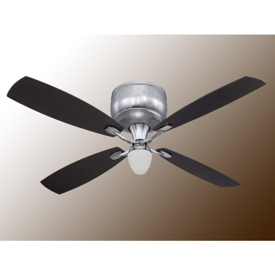 """Preferred Outdoor Ceiling Fans With Galvanized Blades For Craftmade De52Ch4 Delos 52"""" Flush Mount Ceiling Fan W/ Light And Remote (View 15 of 20)"""