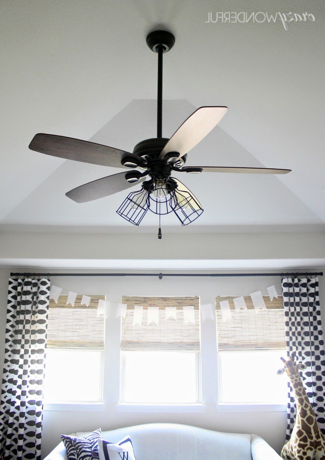 Preferred Outdoor Ceiling Fans With Guard In 5 Ways To Makeover A Light (View 19 of 20)