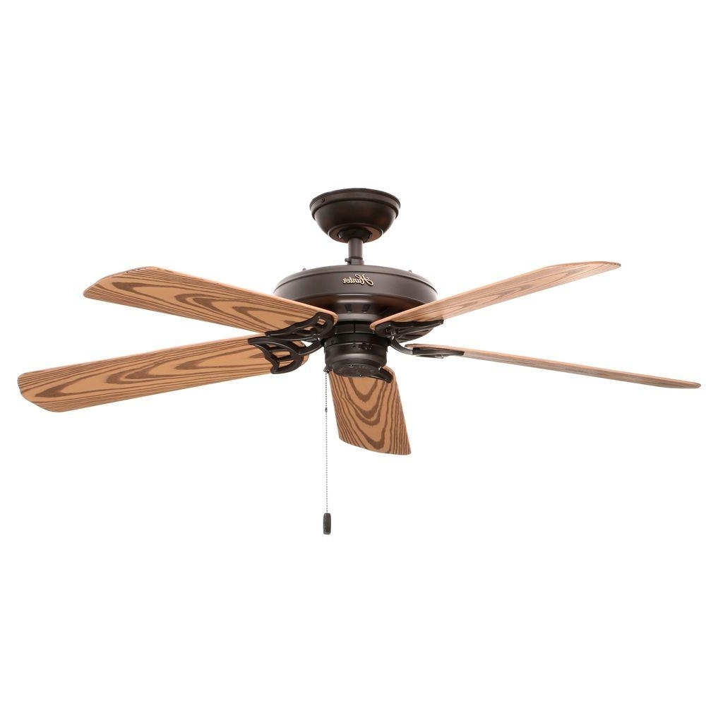 Preferred Outdoor Electric Ceiling Fans In Hunter Bridgeport 52 In (View 17 of 20)