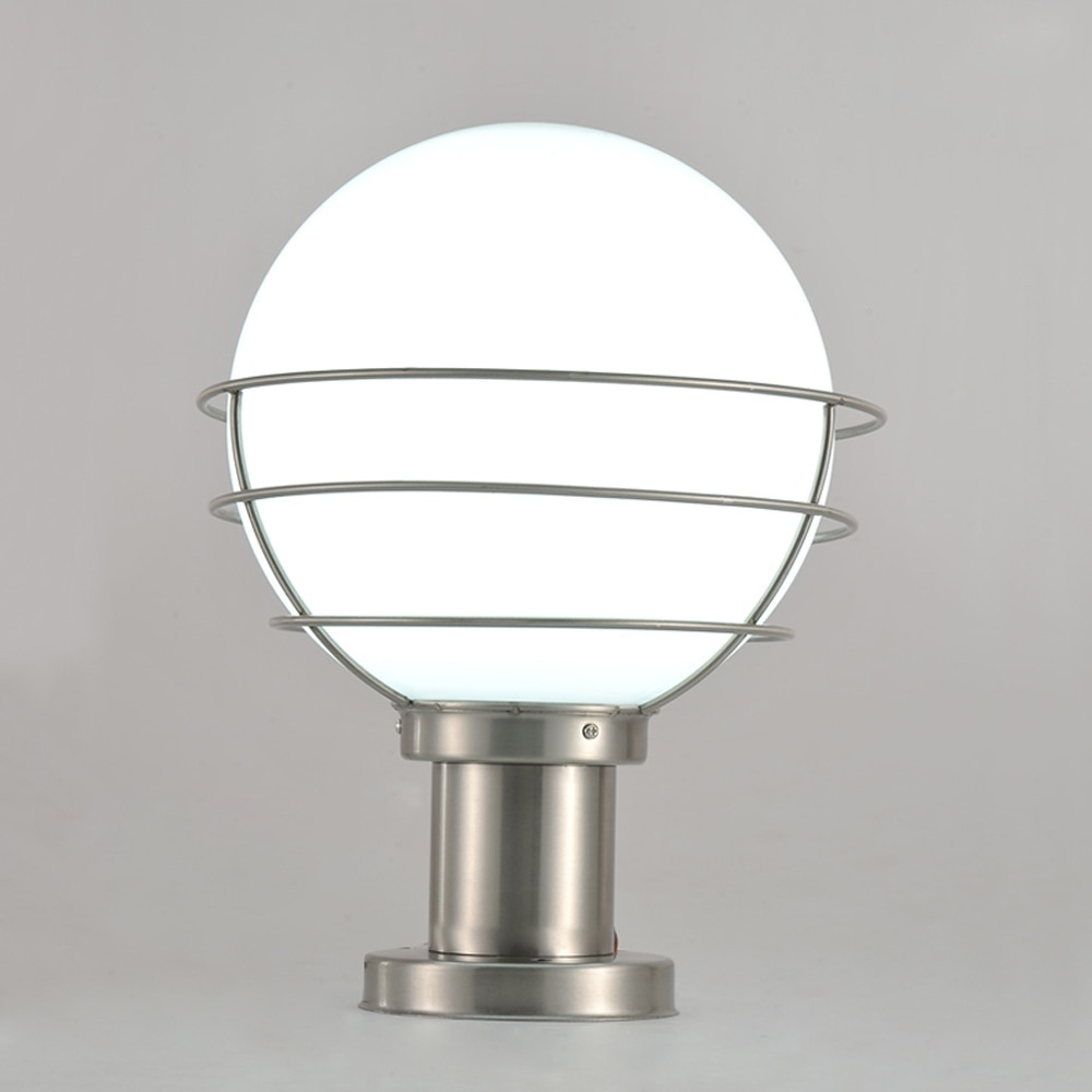 Preferred Outdoor Pillar Lanterns In Modern Stainless Steel&acrylic Garden/yard/fence Lamp Pillar Light (Gallery 11 of 20)