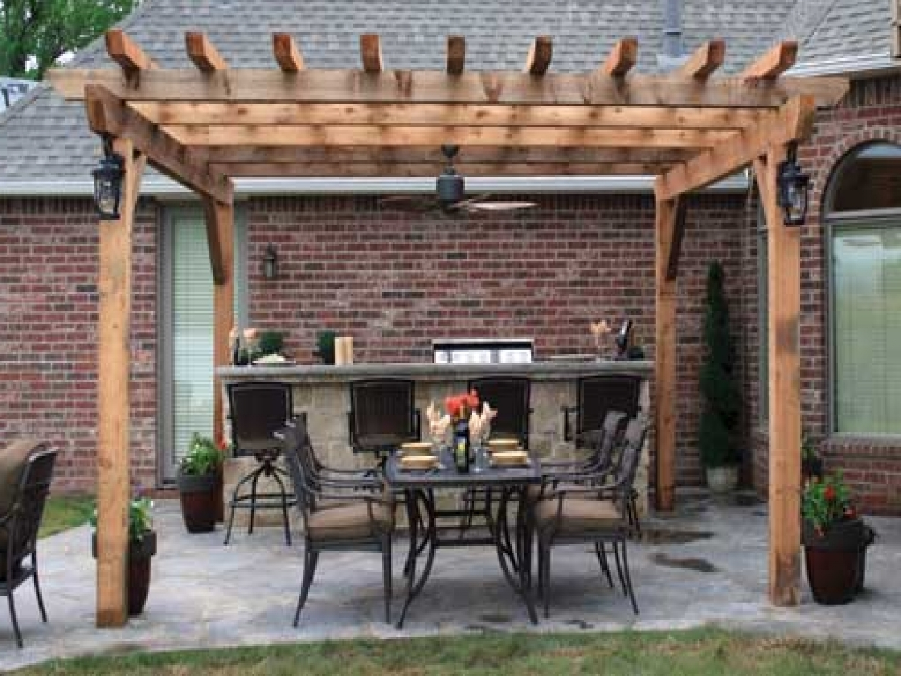 Preferred Pergola With Outdoor Ceiling Fan – Ceiling Decorating Ideas In Outdoor Ceiling Fans For Pergola (View 12 of 20)