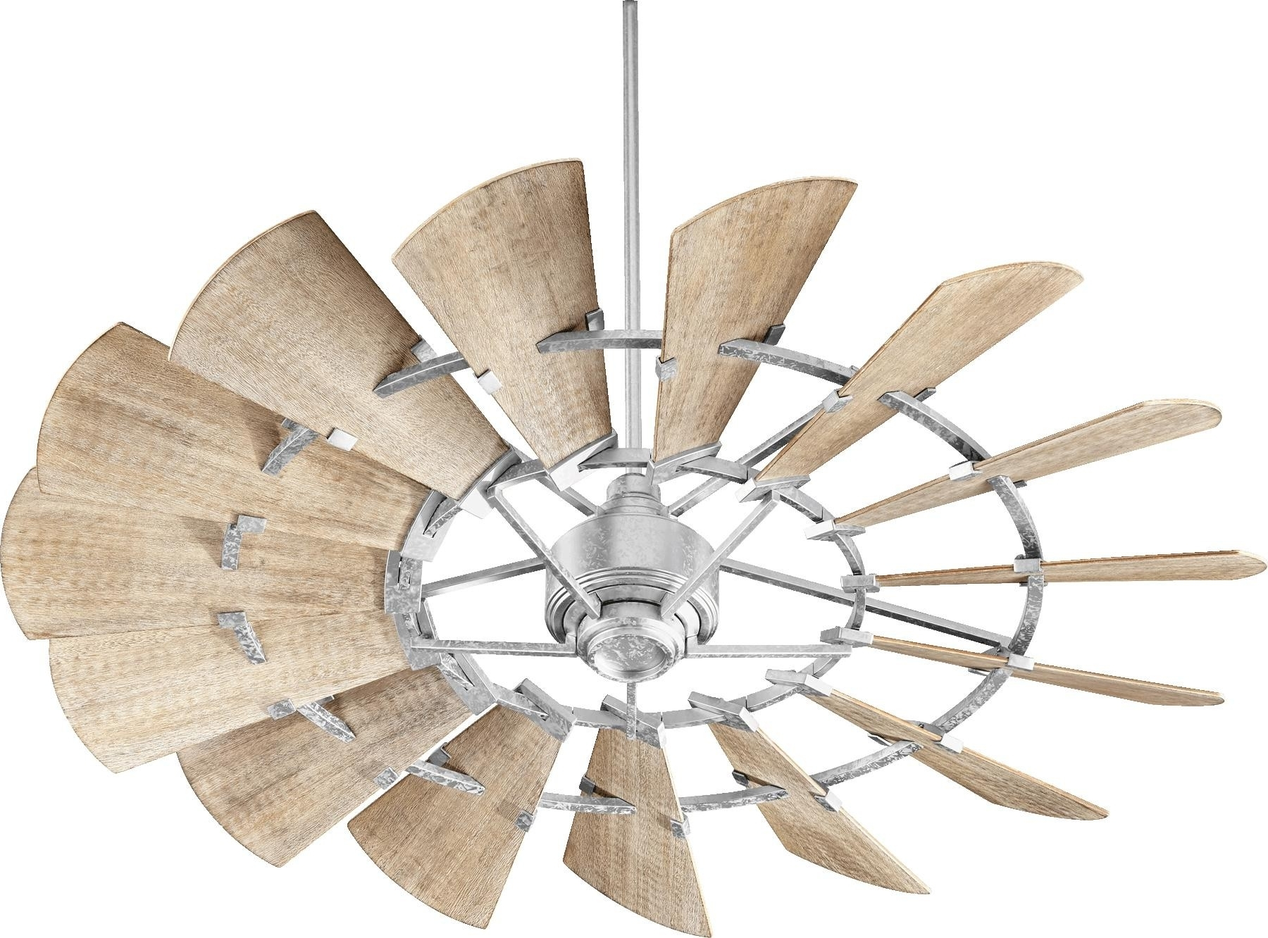 Preferred Quorum Outdoor Ceiling Fans For Quorum Windmill Ceiling Fan Model 196015 9 In Galvanized (View 11 of 20)