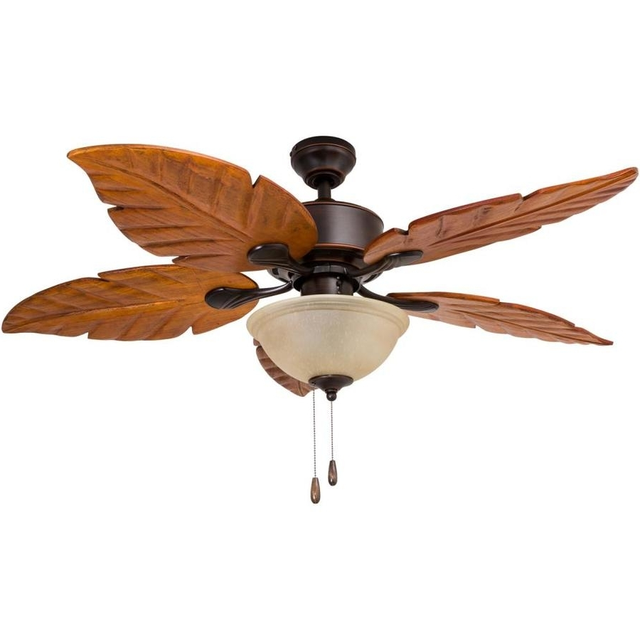 Preferred Shop Harbor Breeze St Kitts 52 In Oil Rubbed Bronze Indoor/outdoor Regarding Leaf Blades Outdoor Ceiling Fans (View 16 of 20)