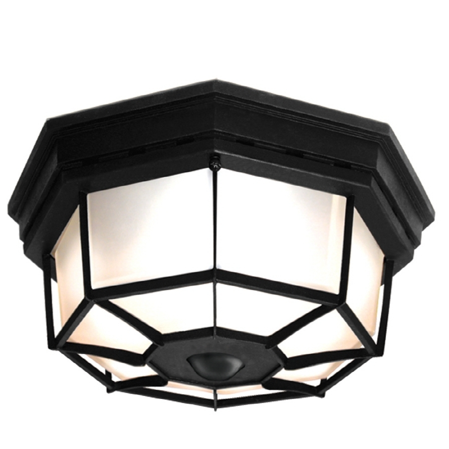 Preferred Shop Outdoor Flush Mount Lights At Lowes For Outdoor Ceiling Fans With Motion Sensor Light (View 18 of 20)