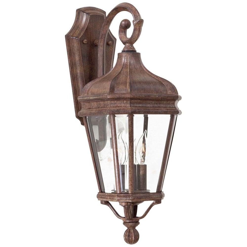 Preferred The Great Outdoorsminka Lavery Harrison 2 Light Vintage Rust Pertaining To Outdoor Vintage Lanterns (Gallery 4 of 20)