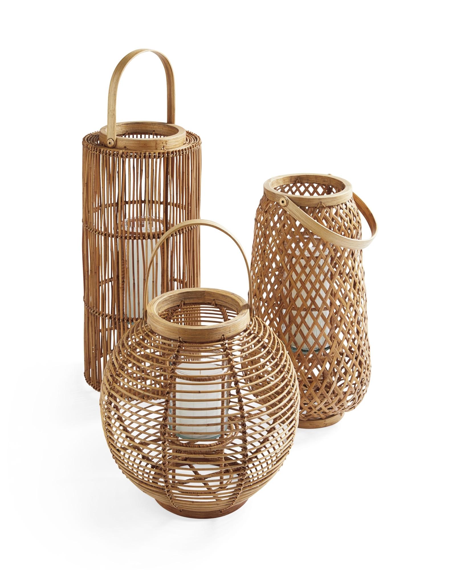 Preferred Tortola Lantern – Serena & Lily Inside Outdoor Rattan Lanterns (View 11 of 20)