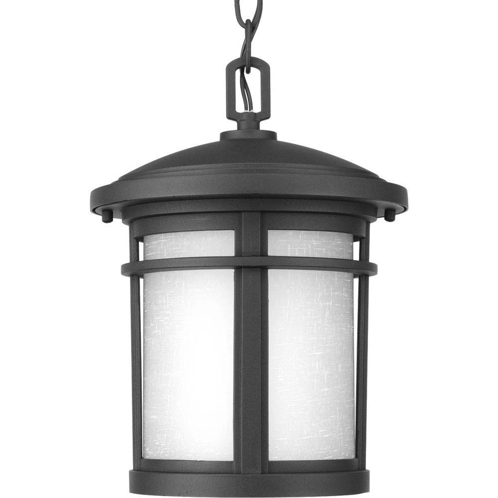 Progress Lighting Wish Collection 1 Light Outdoor Black Led Hanging With Most Recent Led Outdoor Hanging Lanterns (View 10 of 20)