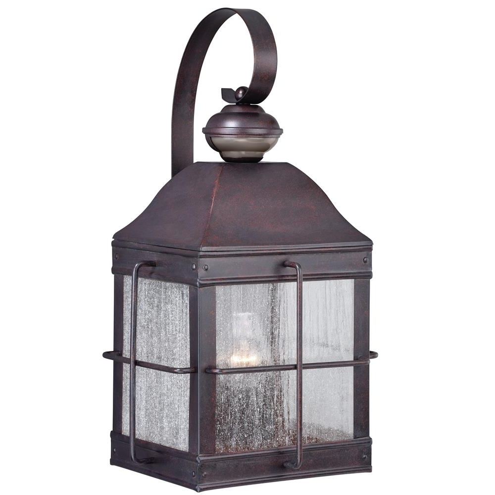 "Quality Outdoor Lanterns In 2019 T0193 – Vaxcel Lighting T0193 Revere Dualux® 10"" Wall Light Royal (View 12 of 20)"