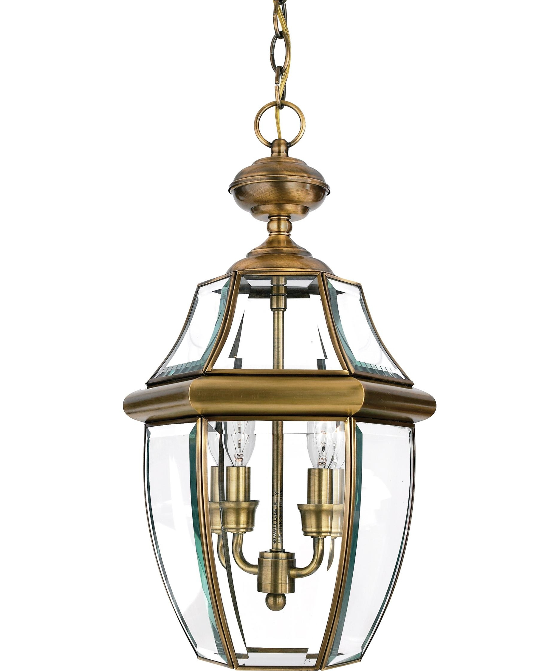 Quoizel Ny1178 Newbury 10 Inch Wide 2 Light Outdoor Hanging Lantern For Popular Gold Outdoor Lanterns (View 18 of 20)