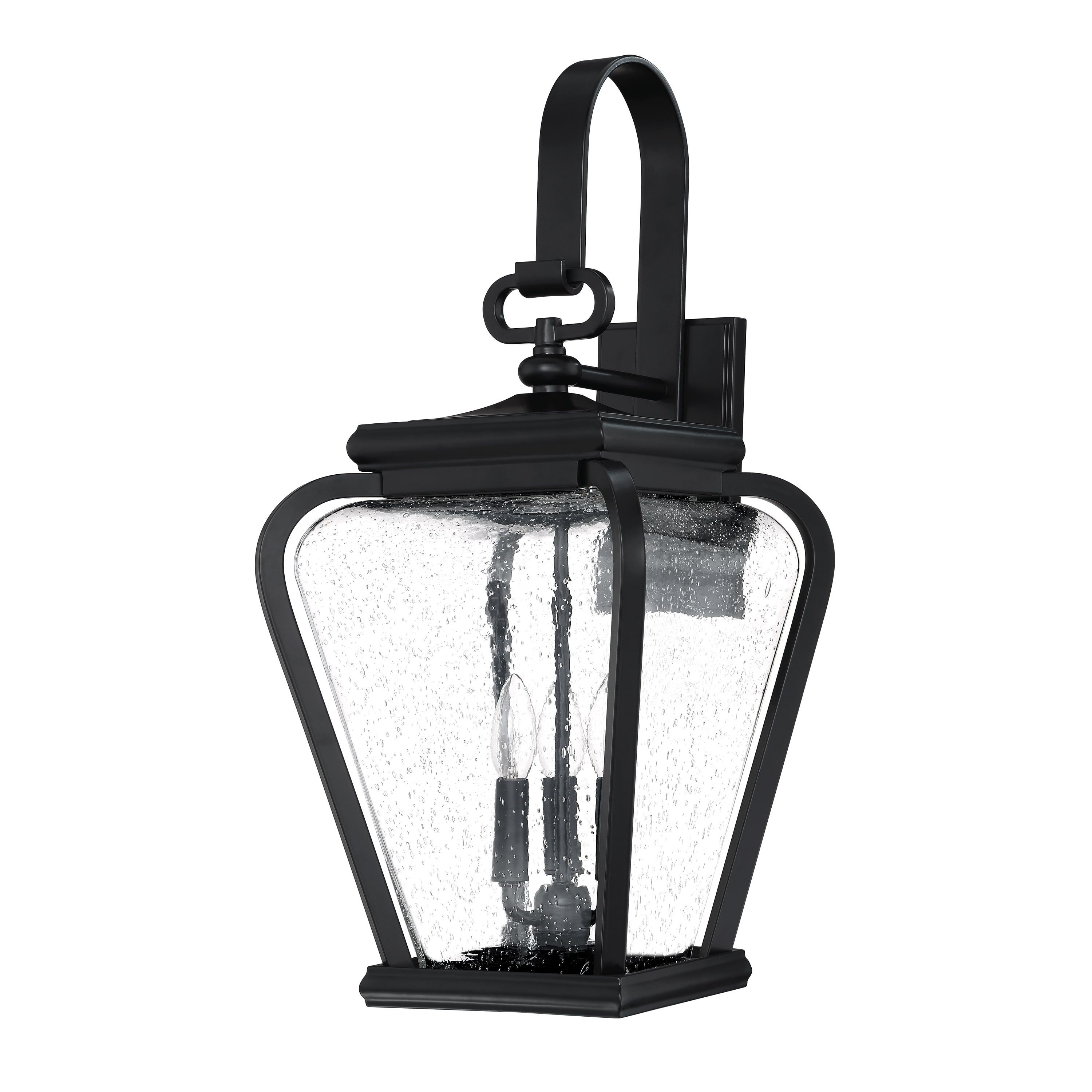 Quoizel Province Mystic Black Jumbo Outdoor Wall Lantern (Extends Intended For Well Liked Jumbo Outdoor Lanterns (View 20 of 20)