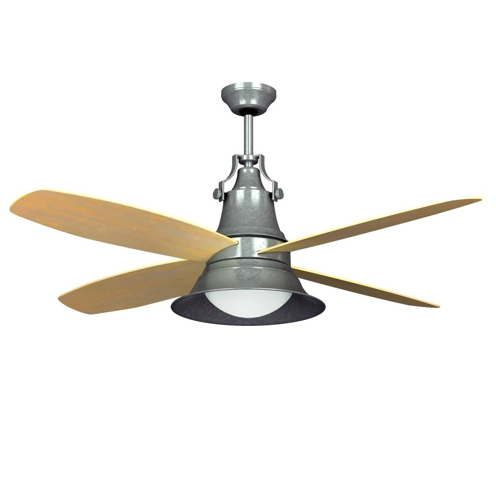 """Recent Craftmade Union 52"""" Ceiling Fan Galvanized Steel Un52Gv – Wet Rated Intended For Outdoor Ceiling Fans With Galvanized Blades (Gallery 8 of 20)"""