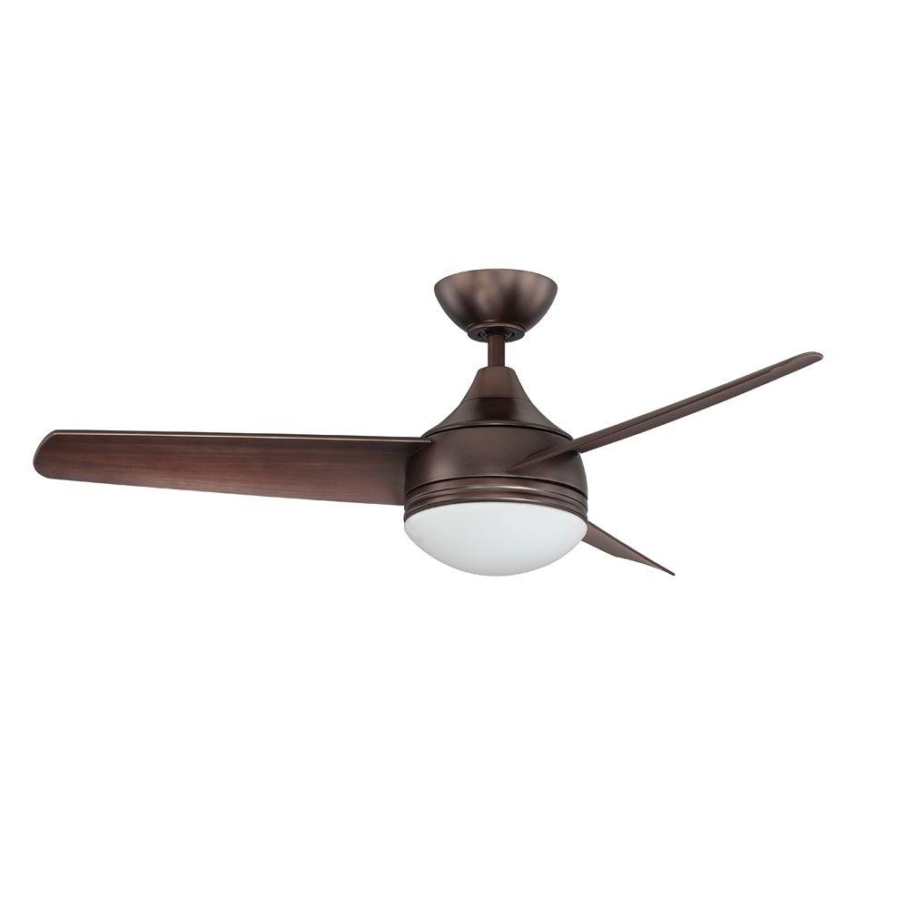 Recent Designers Choice Collection Moderno 42 In. Oil Brushed Bronze For Contemporary Outdoor Ceiling Fans (Gallery 6 of 20)
