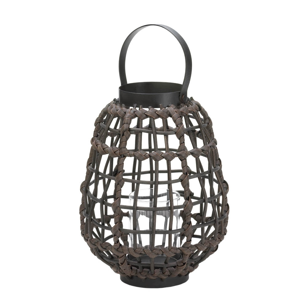 Recent Knotted Rattan Candle Lantern, Candle & Holders, Stylish Home And For Outdoor Rattan Lanterns (View 12 of 20)