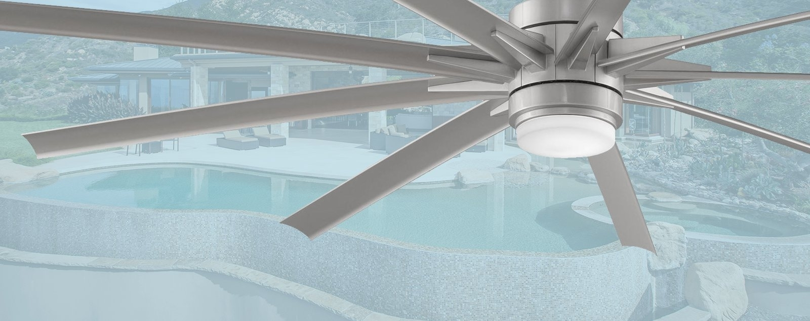 "Recent Large Outdoor Ceiling Fans With Lights Regarding Large Outdoor Ceiling Fans – Outdoor Fans Over 60"" In Diameter (Gallery 15 of 20)"
