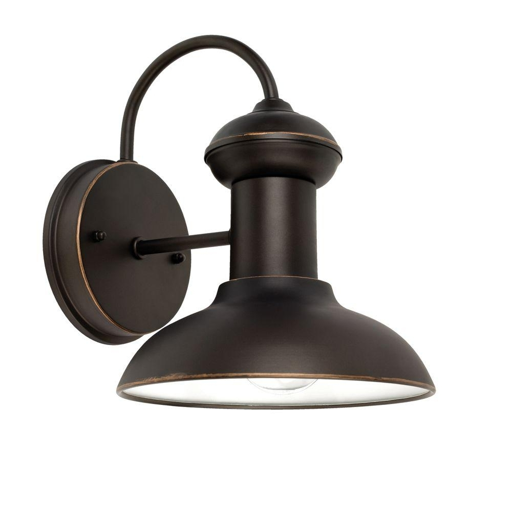 Recent Large Outdoor Electric Lanterns Within Globe Electric Outdoor Wall Mounted Lighting Oil Rubbed Bronze (View 18 of 20)