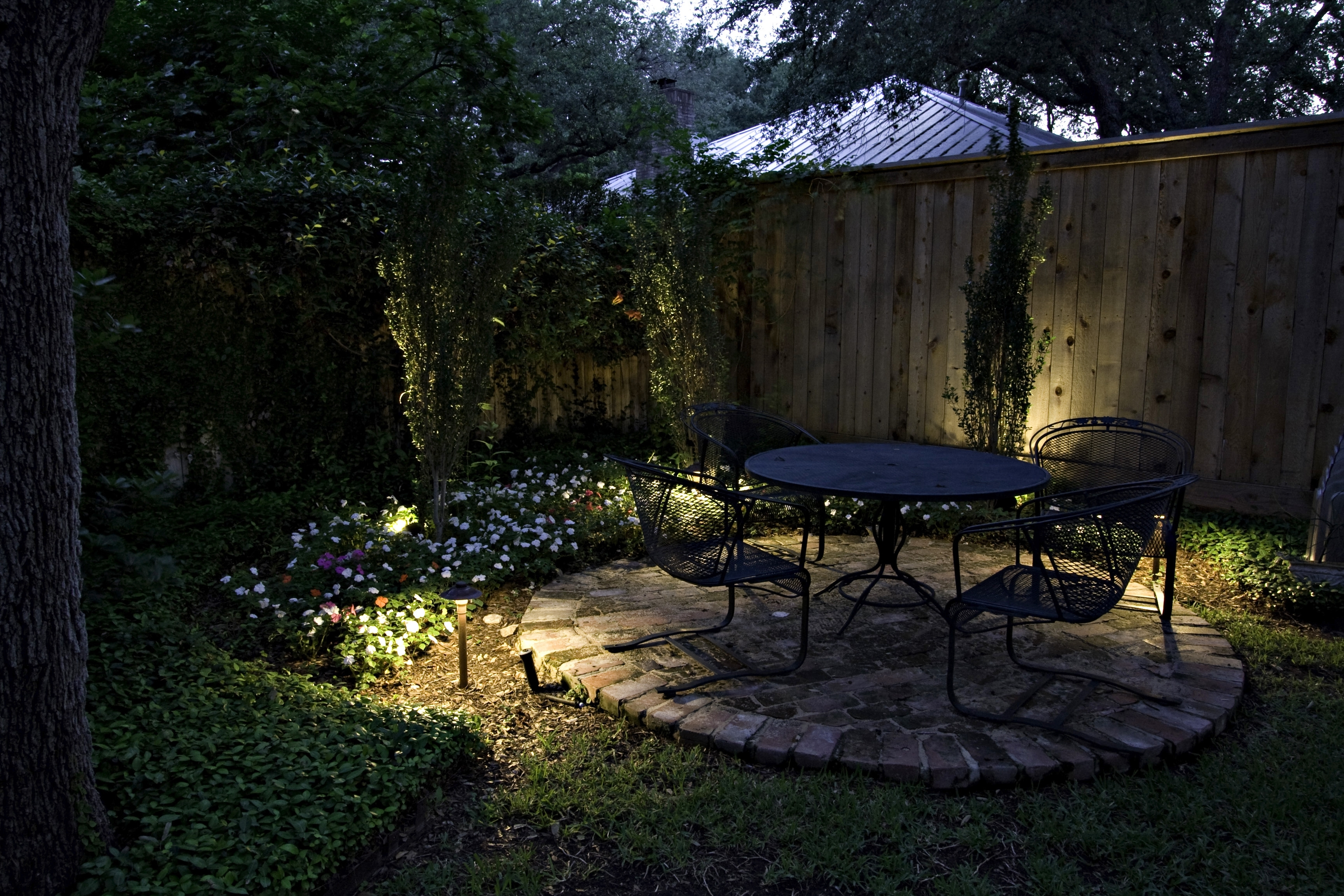 Recent Lush Small Backyard Puget Sound With Lighting Yard Design For With Outdoor Yard Lanterns (Gallery 2 of 20)
