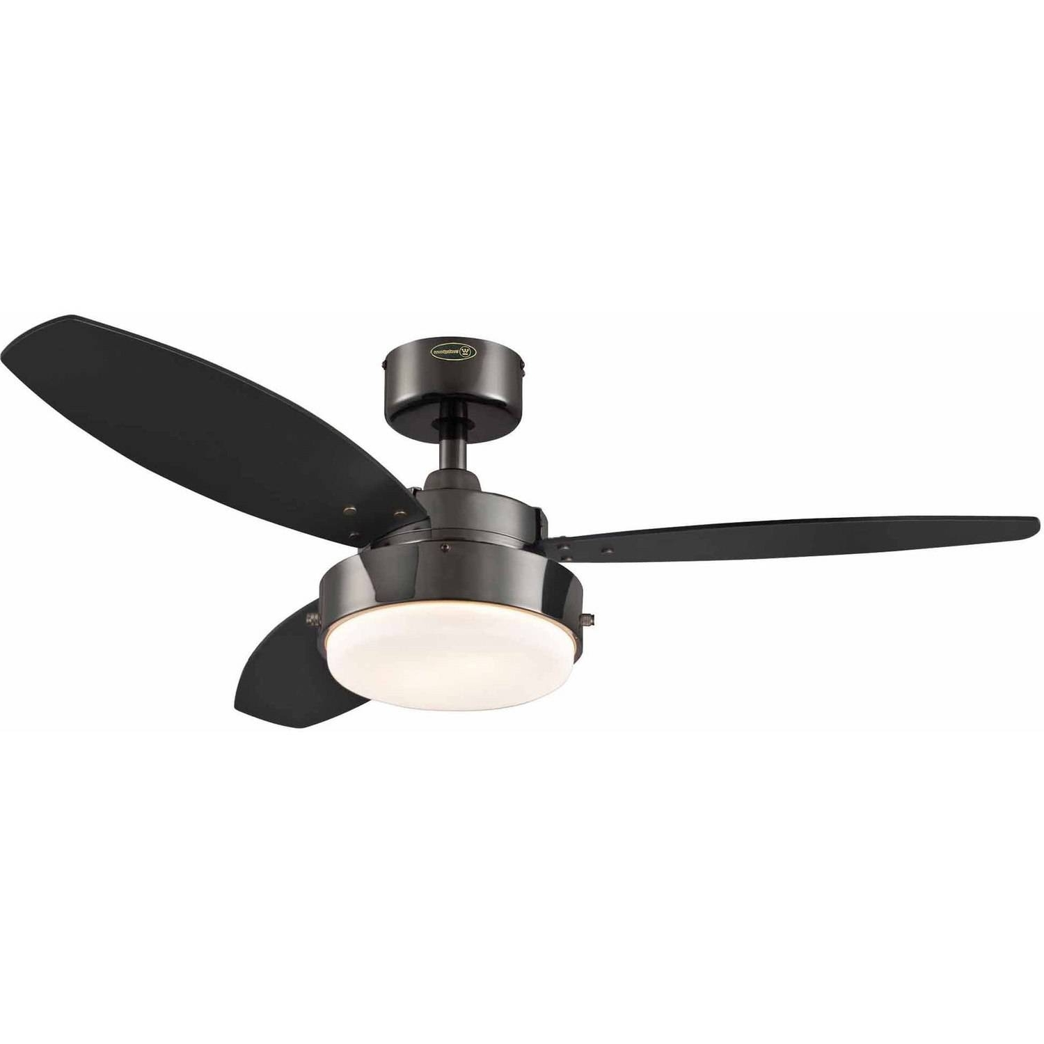 "Recent Metal Outdoor Ceiling Fans With Light Regarding Westinghouse 7876400 42"" Gun Metal 3 Blade Reversible Ceiling Fan (View 15 of 20)"