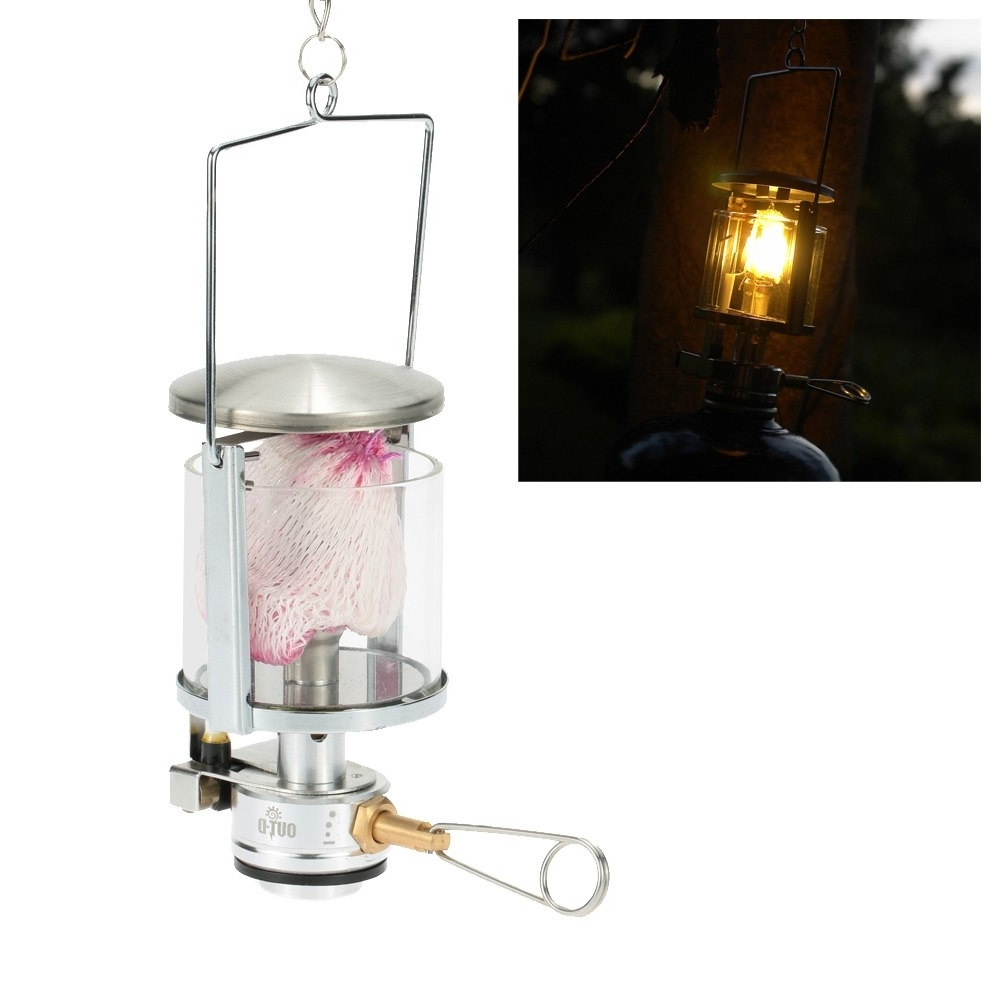 Recent Mini Gas Lantern 60Lux 600W Outdoor Camping Tool Aluminum Light Tent Inside Outdoor Gas Lanterns (View 15 of 20)