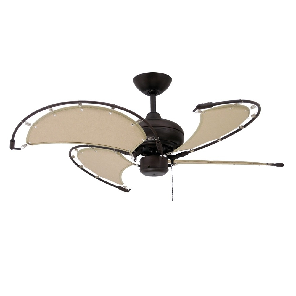 Recent Nautical Ceiling Fans / Maritime Fans With Sail Blades For Coastal For Nautical Outdoor Ceiling Fans (Gallery 5 of 20)