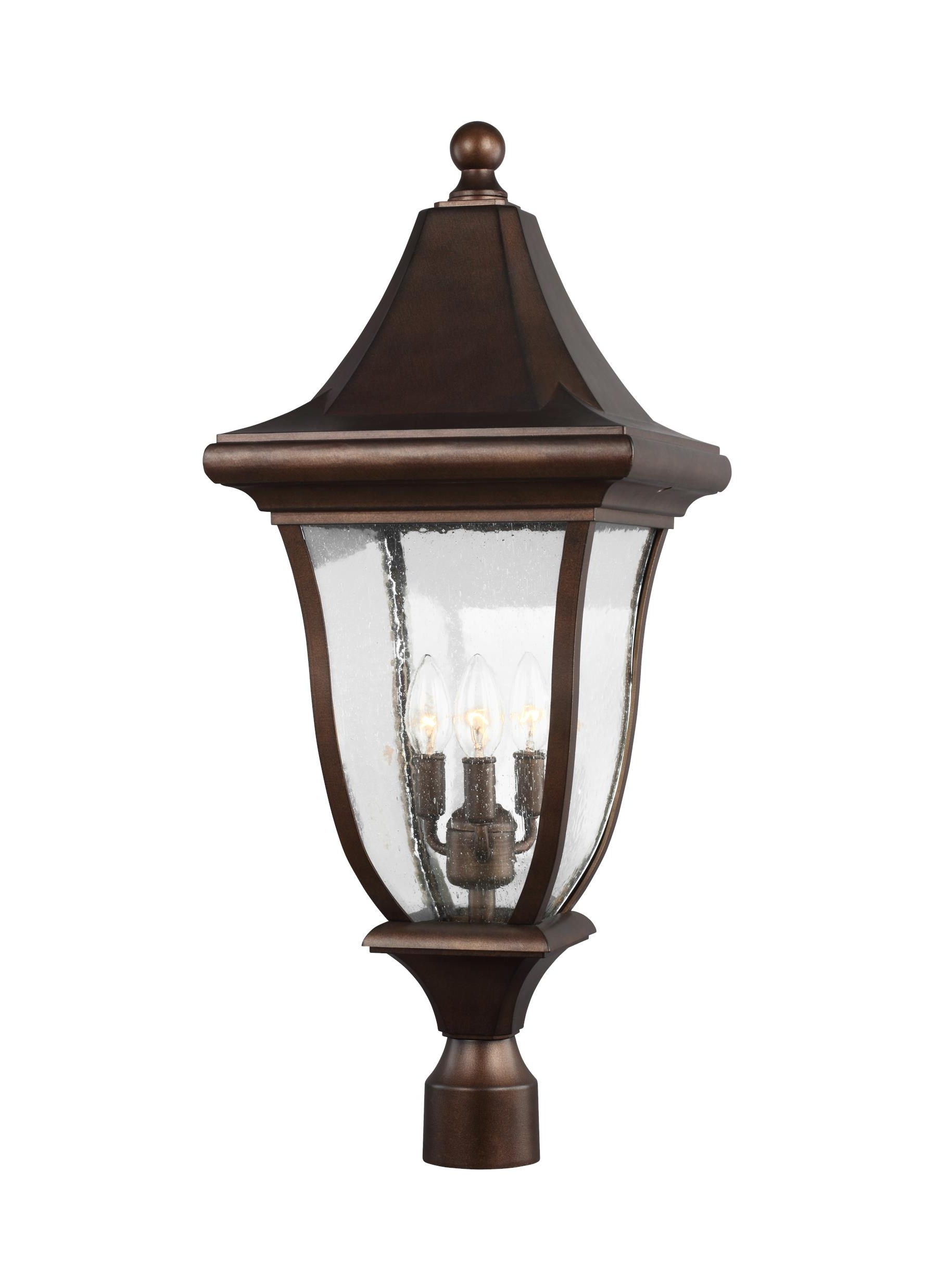 Recent Ol13107Ptbz,3 – Light Outdoor Post Lantern,patina Bronze With Regard To Outdoor Pillar Lanterns (Gallery 16 of 20)