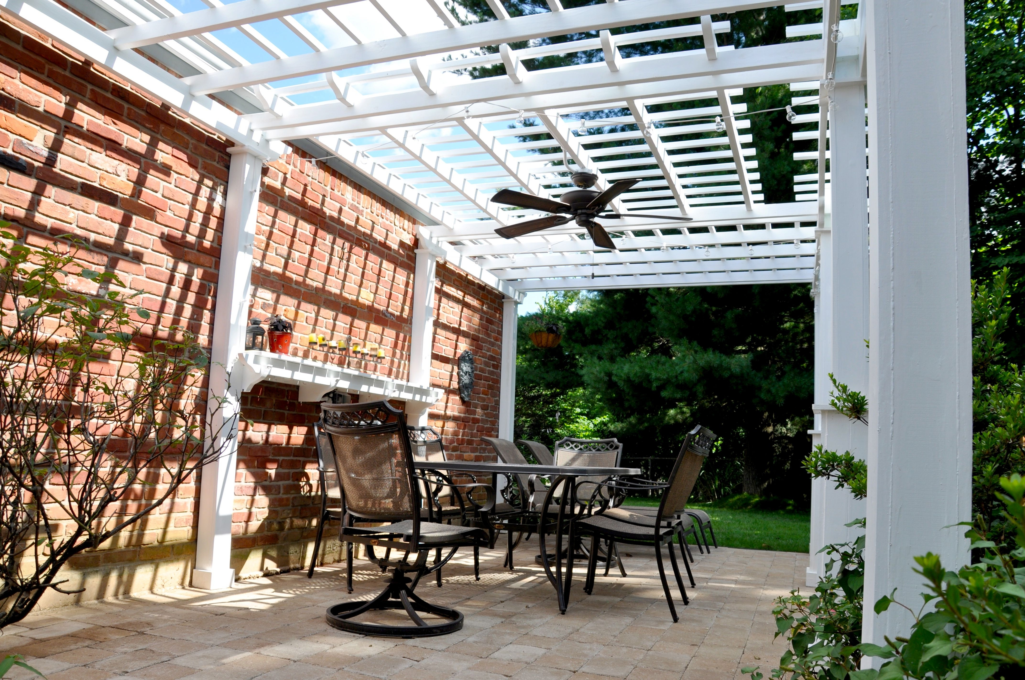 Recent Outdoor Ceiling Fans Under Pergola Intended For Outdoor Ceiling Fan – Pergola – Martinhofmann (Gallery 1 of 20)