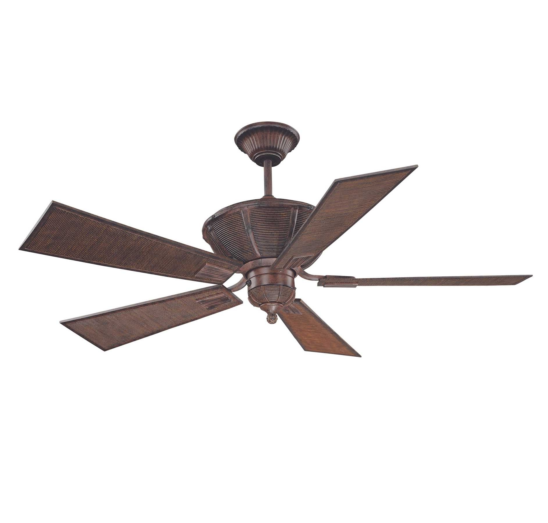 Recent Outdoor Ceiling Fans With Bamboo Blades With Regard To 52 110 5Ba 04 Danville 52 Inch 5 Blade Ceiling Fansavoy House (View 17 of 20)