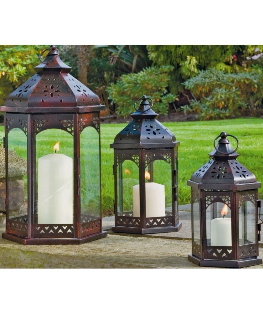 Recent Outdoor Lanterns At Argos Inside Buy Zanzibar 3 Piece Lantern Set At Argos.co (View 17 of 20)