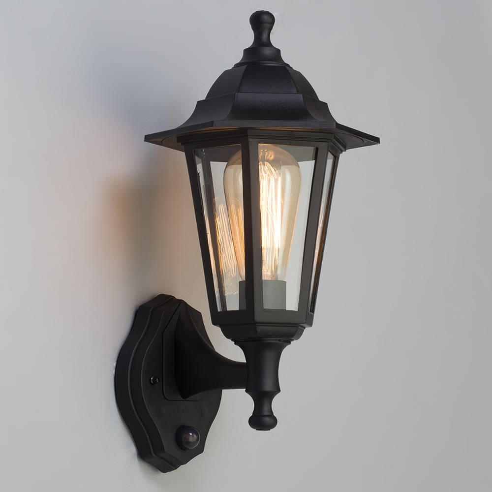Recent Outdoor Lanterns With Pir In 1 Light Wall Lantern Traditional Outdoor Light W/ Pir Sensor In (View 16 of 20)