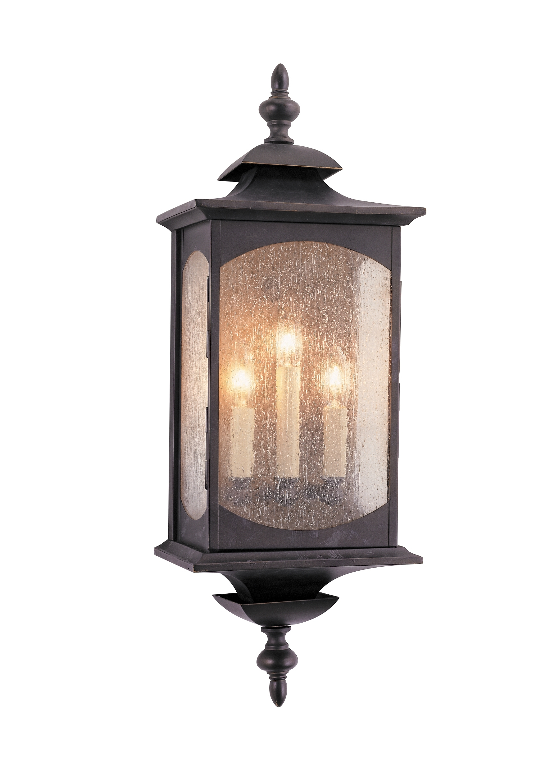 Recent Outdoor Oil Lanterns Pertaining To Ol2602orb,3 – Light Wall Lantern,oil Rubbed Bronze (View 12 of 20)