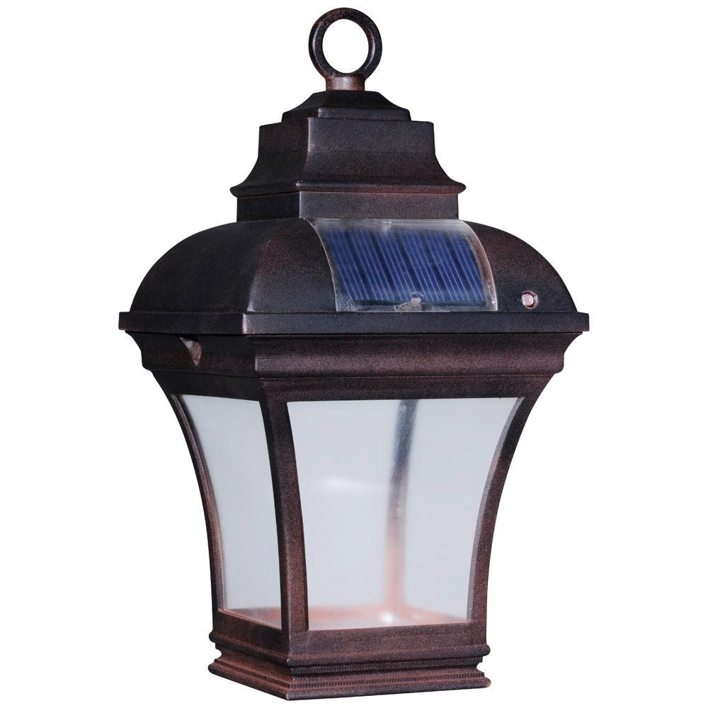 Recent Outdoor Solar Lanterns Regarding Newport Coastal Altina Outdoor Solar Led Hanging Lantern 7786 04Bz 1 (Gallery 4 of 20)