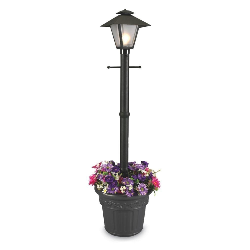Recent Plug In Outdoor Lanterns With Patio Living Concepts Cape Cod Plug In Outdoor Black Post Lantern (View 3 of 20)