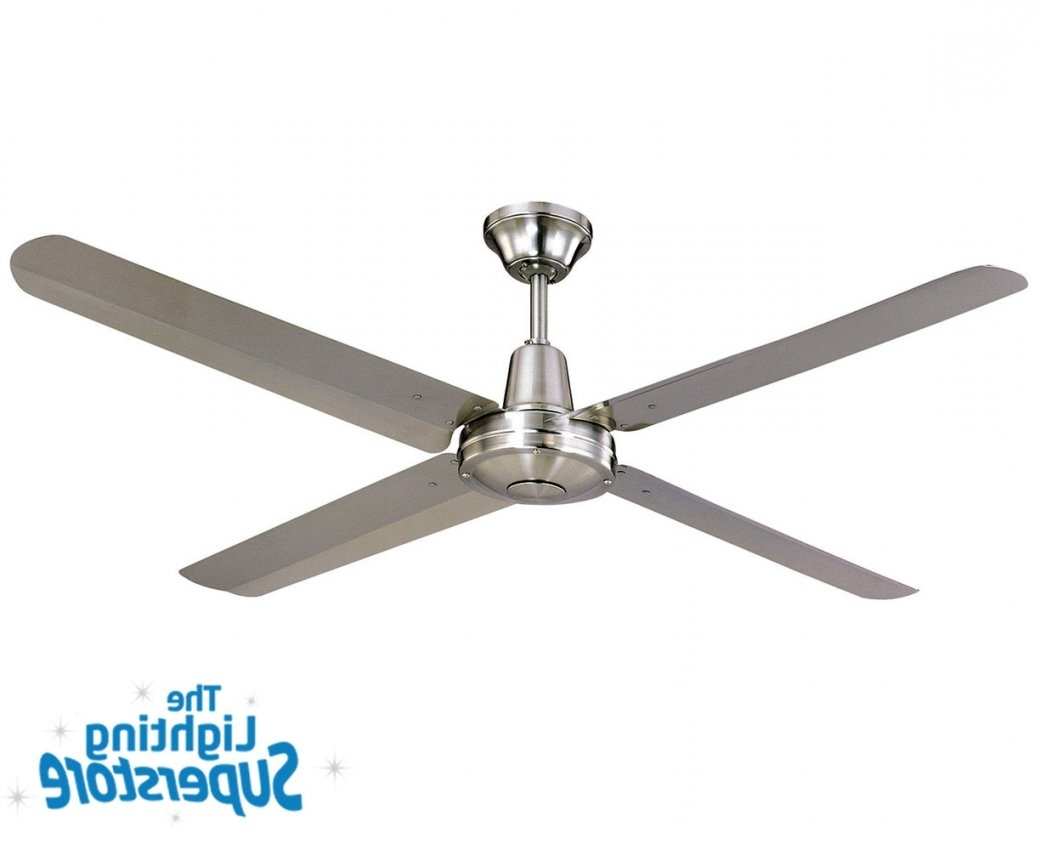 "Recent Stainless Steel Outdoor Ceiling Fans With Light Pertaining To 56"" Typhoon 316 Stainless Steel – Outdoor Ceiling Fans (View 17 of 20)"