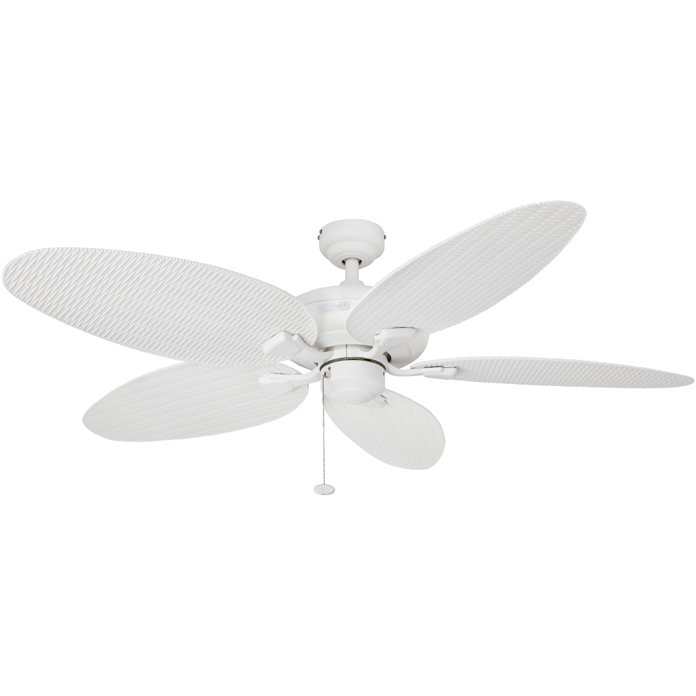 """Recent Wicker Outdoor Ceiling Fans Pertaining To Shop 52"""" Honeywell Duval White Indoor/outdoor Ceiling Fan With (View 12 of 20)"""