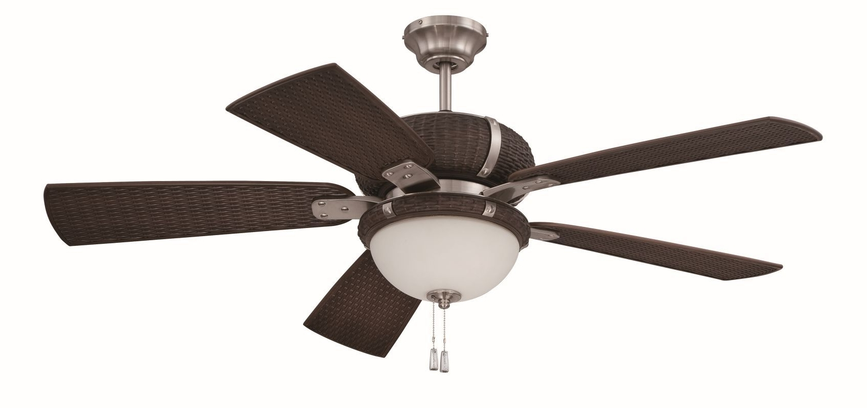 "Recent Wicker Outdoor Ceiling Fans With Regard To Craftmade Lap545 La Playa 54"" 5 Blade Outdoor Ceiling Fan – Blades (View 10 of 20)"