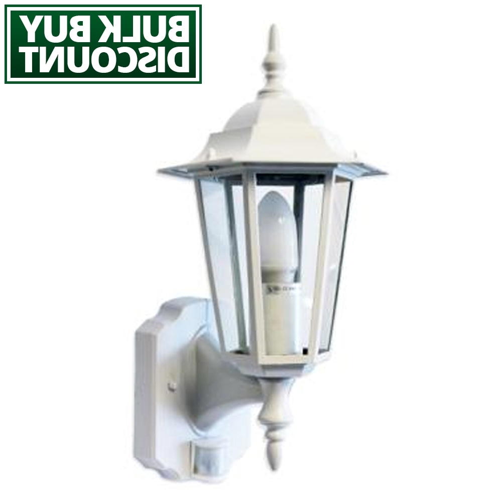 Regent – White Pir Lantern – Outdoor Motion Sensor Wall Light – Lumena Pertaining To Most Popular Outdoor Lanterns With Pir (View 17 of 20)